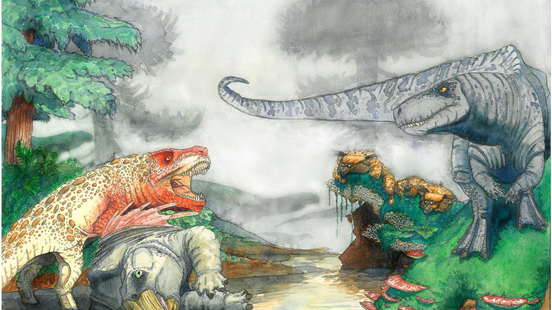 """Десятиметровые """"крокодилы"""" убивали динозавров 210 миллионов лет назад"""