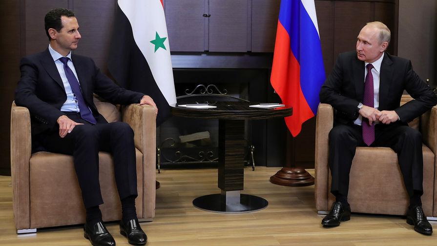 Россия обсудила с Асадом ситуацию в Сирии
