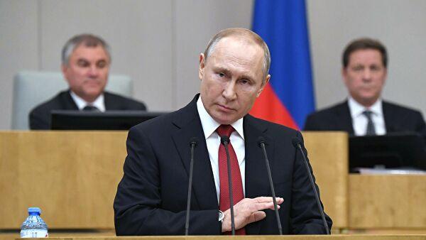 Слуцкий прокомментировал выступление Путина в Госдуме