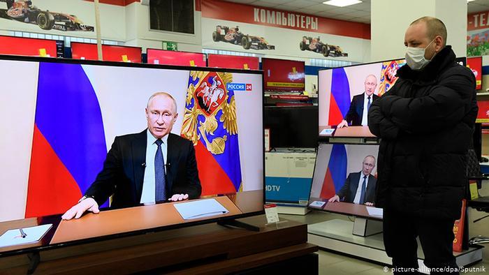 Рейтинг Путина в телевизоре вырос после второго обращения к гражданам
