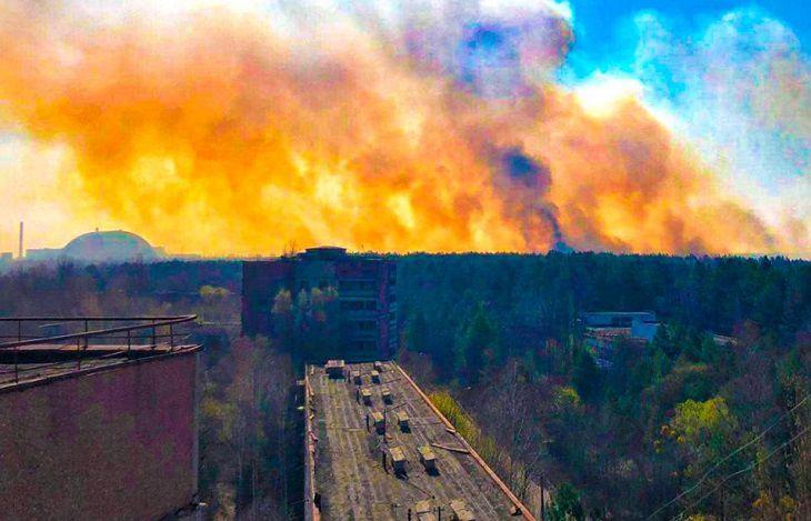 Пожар в Чернобыле почти достиг хранилищ радиоактивных отходов