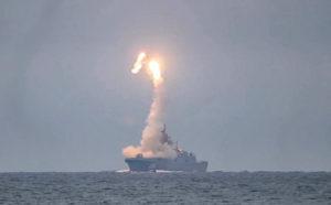 Минобороны показало испытательный запуск гиперзвуковой ракеты «Циркон»