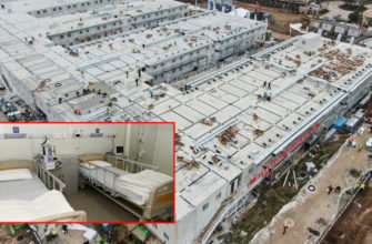 Китайские строители за пять дней построили ковидную больницу с 1500 палатами