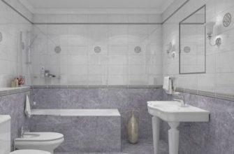 Плитка Лапарет поможет визуально увеличить пространство в маленькой ванной