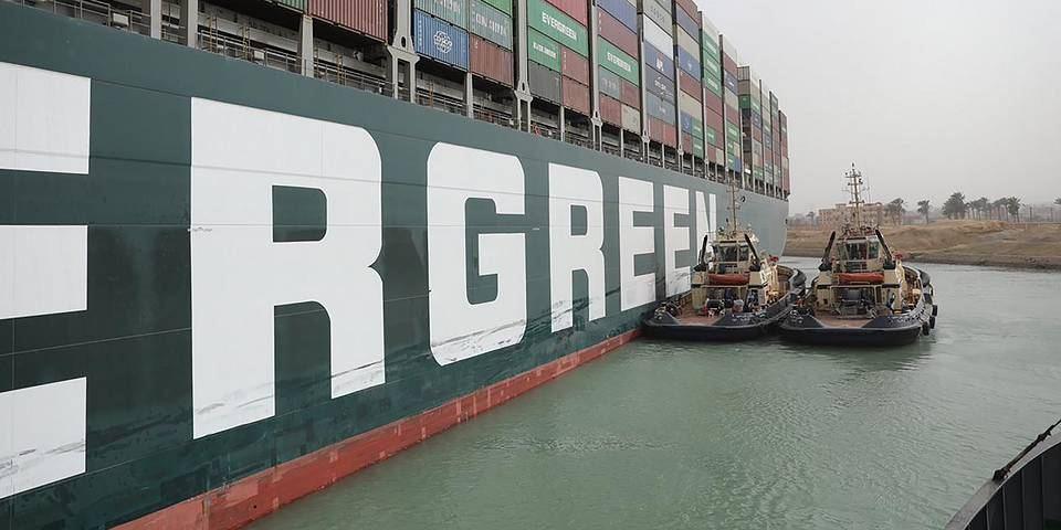 Штраф за блокировку Суэцкого канала составит 1 млрд долларов