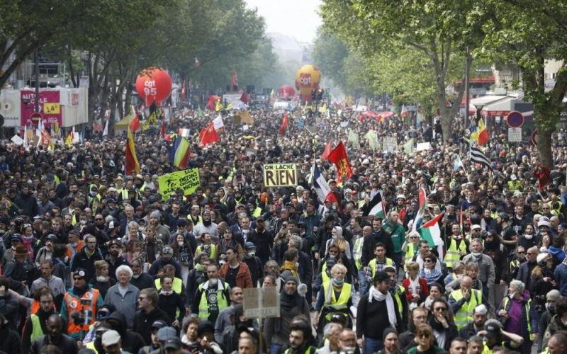 Беспорядки во Франции на Первомай