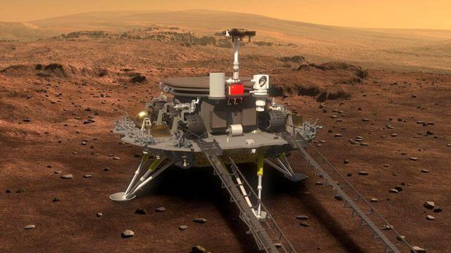Китайский марсоход успешно высадился на красную планету