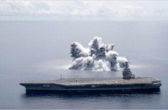 В США провели испытания авианосца, взорвав рядом подводную бомбу