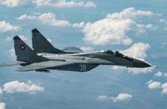 МиГ-29 ВВС Болгарии потерпел крушение над Чёрным морем