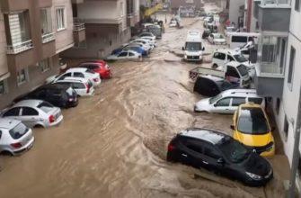Стихия добралась до Турции: провинция Риза затоплена, есть пострадавшие