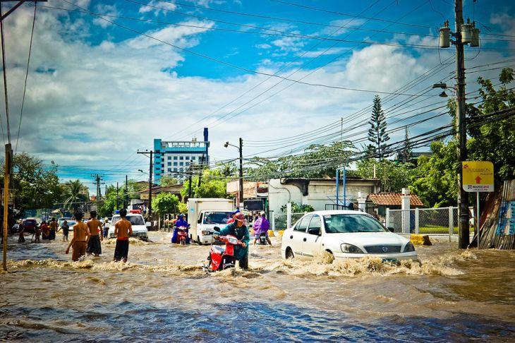 Нью-Йорк затопило на несколько часов сильным ливнем