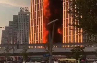 Кайсюань Гоцзи в огне: в Китае полыхает знаменитый жилой небоскрёб