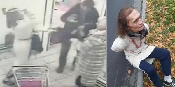 В московском «Магните» мужчина в женском платье на пал на покупателей с топором