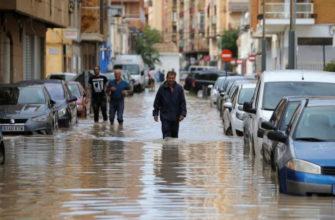 Испанию затопило после сильных дождей